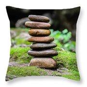 Balancing Zen Stones IIi Throw Pillow