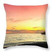 Balboa Beach Pastels Throw Pillow