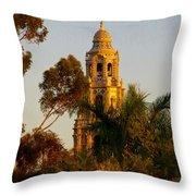 Balboa Park Bell Tower Orig. Throw Pillow