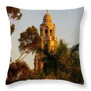 Balboa Park Bell Tower Throw Pillow