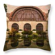 Balboa Park Botanical Building Symmetry Throw Pillow