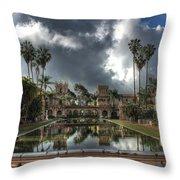 Balboa Park Fountain Throw Pillow