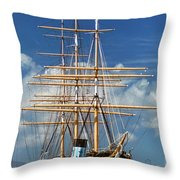 Balclutha Mast And Rigging Throw Pillow