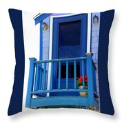 Balcony And Flower Pot Throw Pillow