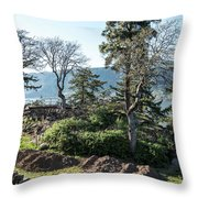 Balcony At Hood River Throw Pillow