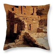 Balcony House, Mesa Verde Np, Co Throw Pillow