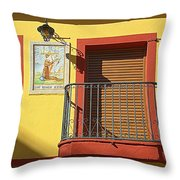 Spanish Balcony Throw Pillow