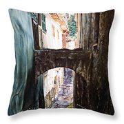 Balcony On The Arch Throw Pillow