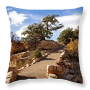 Balcony To The North Rim Throw Pillow