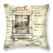 Balcony Venice Throw Pillow