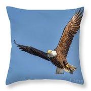Bald Eagle And Fish Throw Pillow