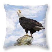 Bald Eagle Art - Speak Your Voice Throw Pillow