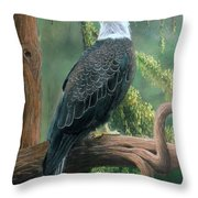 Bald Eagle In Pastel Throw Pillow