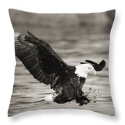Bald Eagle Landing Throw Pillow