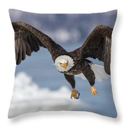 Bald Eagle Magic Throw Pillow