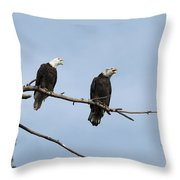 Bald Eagle Perch Throw Pillow
