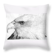 Bald Eagle Profile Throw Pillow