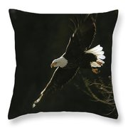 Bald Eagle-signed Throw Pillow