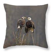 Bald Eagles Balancing Throw Pillow