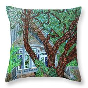 Bald Head Island, Village Chapel Throw Pillow