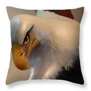 Bald-headed Eagle Sculpture Throw Pillow