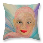 Bald Is Beauty With Brown Eyes Throw Pillow