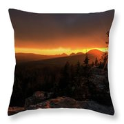 Bald Mountain Sunset Throw Pillow