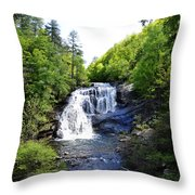 Bald River Falls Swimming Hole 2 Throw Pillow