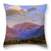 Baldy Shadow Mountain Lake Throw Pillow