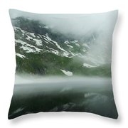 Balea Lake Panorama Romania Throw Pillow
