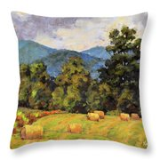 Bales Of August Throw Pillow