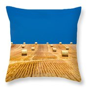 Bales On The Storm Throw Pillow