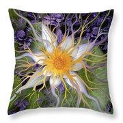 Bali Dream Flower Throw Pillow