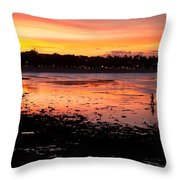 Bali Fisherman Sunset Throw Pillow