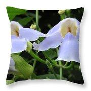 Bali Flowers 3 Throw Pillow