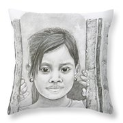 Bali Girl  Throw Pillow