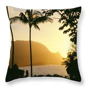 Bali Hai, Yellow Throw Pillow