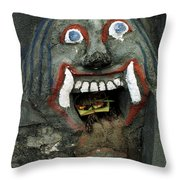 Bali Mask Throw Pillow
