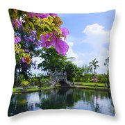 Bali Reflections Throw Pillow