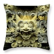 Bali Temple Art Throw Pillow