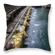 Bali Temple Offerings Throw Pillow