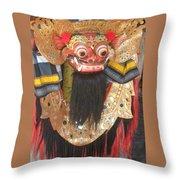 Balinese Barong Throw Pillow