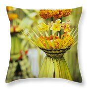 Balinese Ceremony Throw Pillow