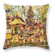 Balinese Ceremony  Throw Pillow