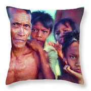 Balinese Gothic - Paint Throw Pillow