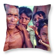 Balinese Gothic Throw Pillow