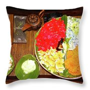 Balinese Spa Throw Pillow