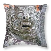 Balinese Temple Guardian Throw Pillow
