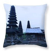 Balinese Temple On Side Throw Pillow