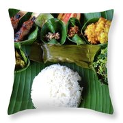 Balinese Traditional Lunch Throw Pillow